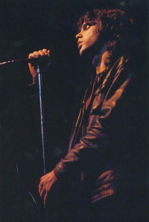 Jim Morrison at Filmore East in New York, 1968.