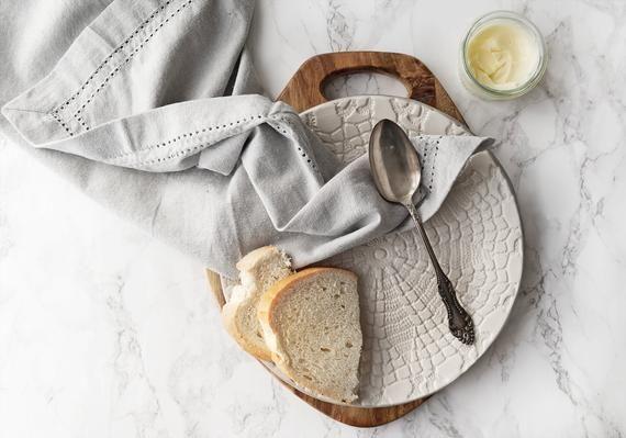 Lace Steingut Geschirr Set – Weiß + Grau Handmade Geschirr – Keramik Teller   – Products