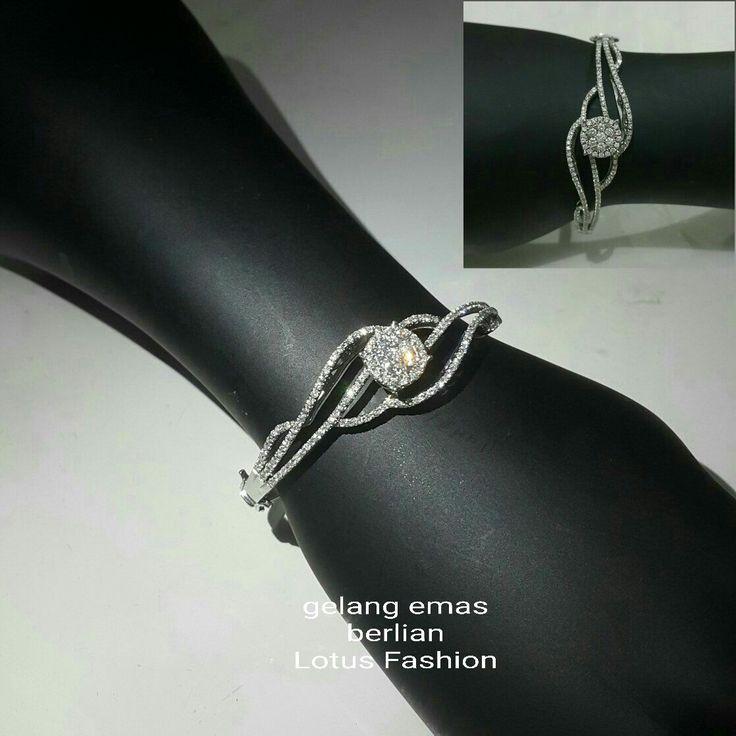 New Arrival. Gelang Emas Berlian Lotus Fashion.  Toko Perhiasan Emas Berlian-Ammad +6282113309088/5C50359F Cp.Antrika.  https://m.facebook.com/home.php #investasi#diomond#gold#beauty#fashion#elegant#musthave#tokoperhiasanemasberlian