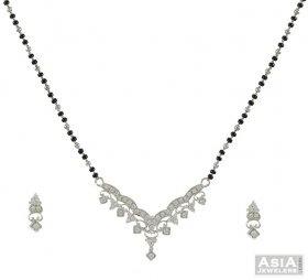 Mangalsutra Set (White Gold)