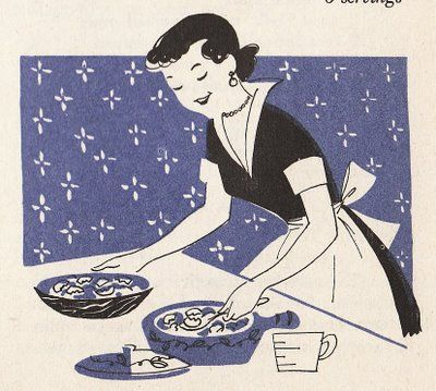 The Silly BooDilly: Getting Ready for Thanksgiving with More Vintage Cookbook Illustrations!