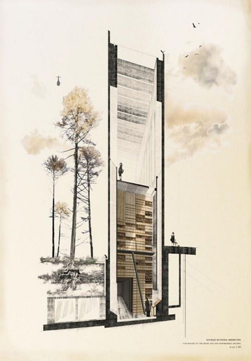 1000 images about parasite architecture on pinterest for Full size architectural drawings