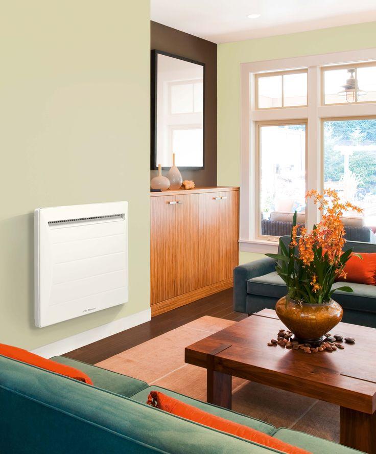 Radiateur chaleur douce à inertie Thermor. La chaleur se diffuse rapidement grâce à son corps de chauffe en aluminium.