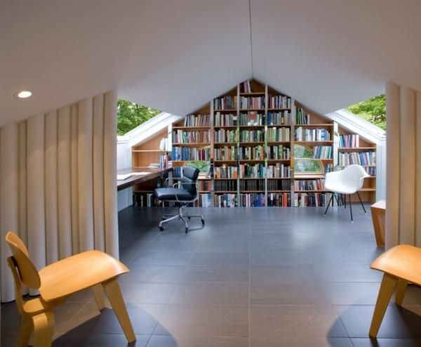 Ide Dekorasi Ruang Pada Atap Rumah Perpustakaan » Gambar