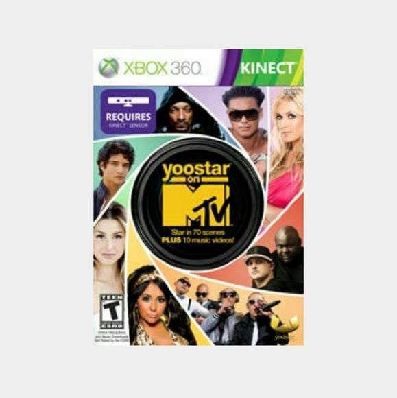 NEW Xbox 360 kinect MTV Game *Reduced Price* NEW & Never been Opened,  MTV Yoostar requires Kinect sensor box Rated teen!! Great game to play with ya squad MTV Accessories