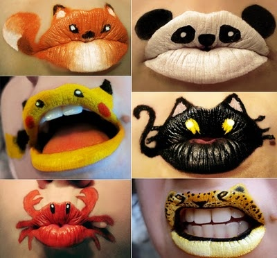LIP ANIMALS~ The crab is the best haha!  I've got to show this to Carol!