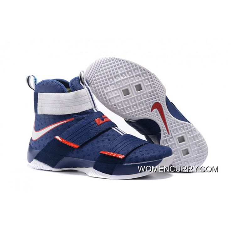 new styles ba2f8 7fc2f Nike LeBron Soldier 10 White Light Blue USA Nike LeBron Soldier 10  ObsidianWhite-University Red New Release.