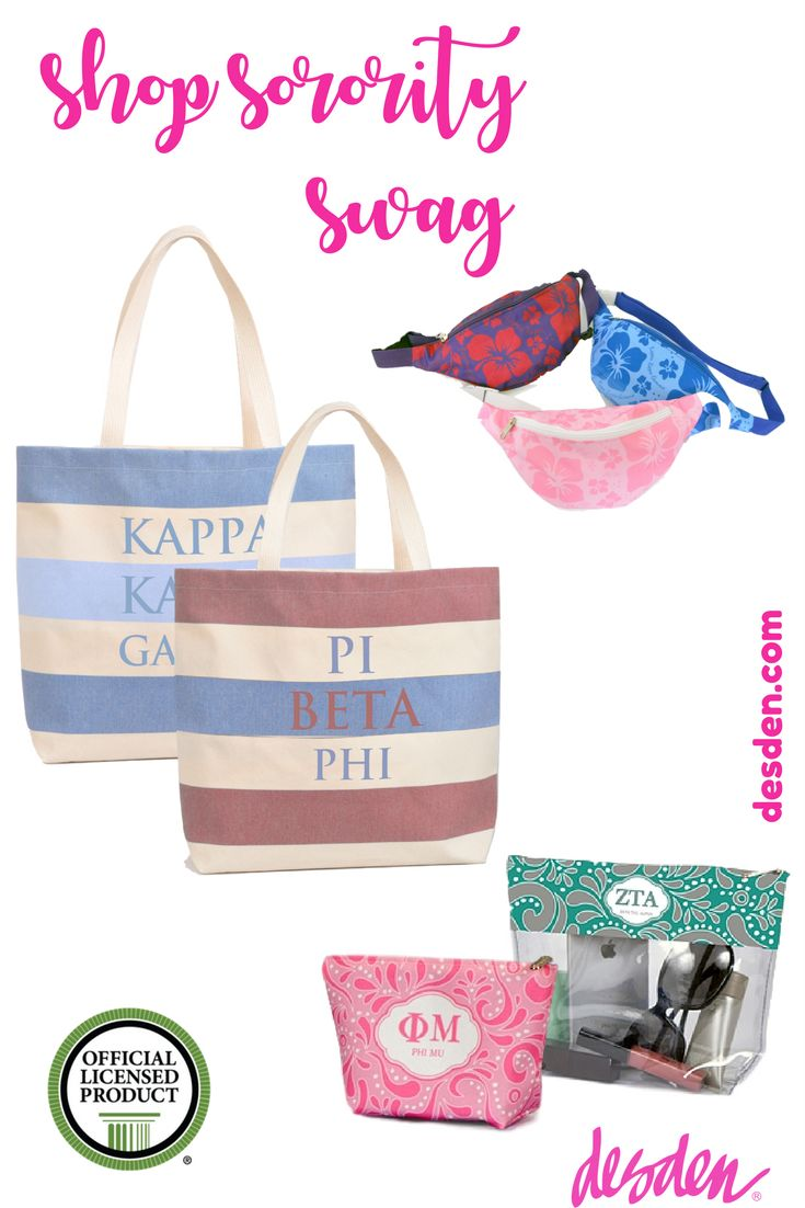 Shop desden for #sorority and #bidday gifts for your big or litte! If you're a retailer interested in partnering with us, please visit www.desdenwholesale.com  Desden is excited to offer the cutest totes, sorority fannypacks, bid day totes and much more. www.desden.com #greeklife