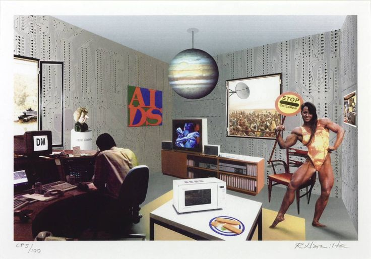 Richard Hamilton, 'Just what is it that makes today's homes so different?' 1992