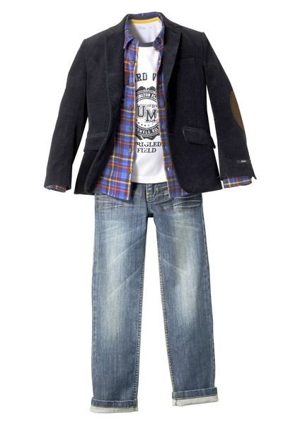 """""""SHOPPING ENFANT. Comment habiller mon fils pour la rentrée? - L'Express Styles"""" - A guide on how to dress one's son for the first day back at school. Students can compare and contrast their own wardrobe choices for this time of the year using their vocabulary from the text."""
