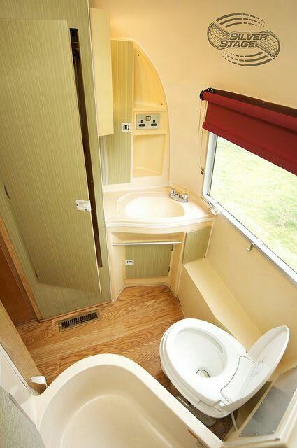 1000 images about trailer envy on pinterest campers for Rv bathroom wallpaper