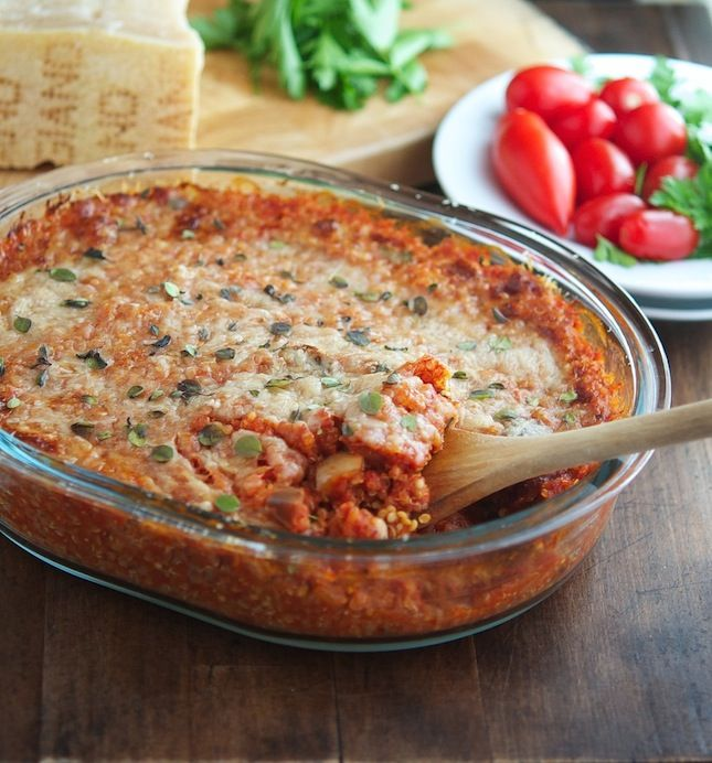The Iron You - A healthy living blog with tasty recipes: Eggplant Parmesan Quinoa Casserole