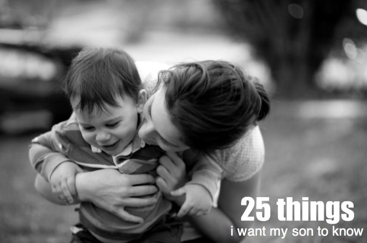 """""""25 things i want my son to know"""""""