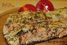 Рыба со сметанно-укропным соусом в мультиварке.