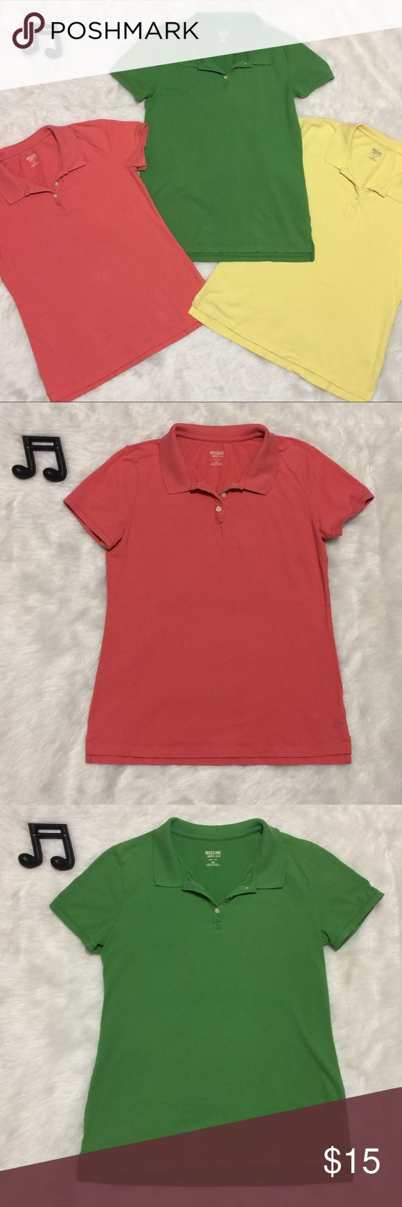 Bundle of 3 Fitted Pique Polo Shirts Price includes all 3 Fitted style Pique Polo Shorts. All size medium from Mossimo. Salmon Pink, Lemon Yellow and Kelly Green. No flaws. I also have these listed separately if you only want one but I am discounting for the bundle.  See measurements in photos for sizing questions.   🔽🔽🔽🔽🔽🔽🔽🔽🔽🔽🔽🔽🔽🔽🔽🔽🔽🔽🔽🔽  • Pre-Made Bundle Listings are Firm.  • Sorry, no modeling & no trades  🔼🔼🔼🔼🔼🔼🔼🔼🔼🔼🔼🔼🔼🔼🔼🔼🔼🔼🔼🔼 Mossimo Supply Co Tops…