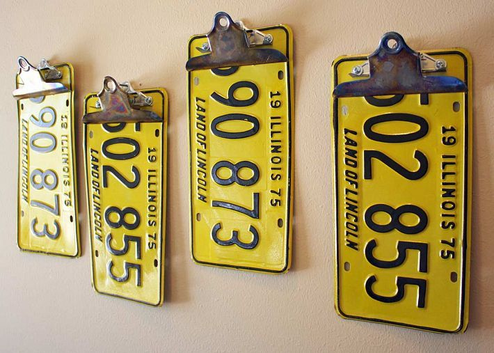 Repurposed/Upcycled License Plate Clipboards - Automotive Office Supplies #upcycled #recycled #diycarparts
