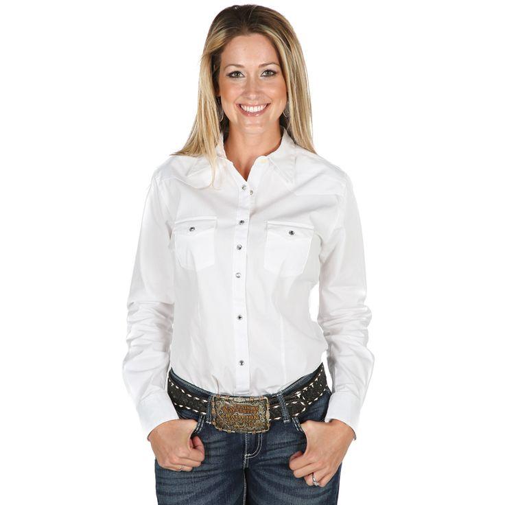 Women's Wrangler White Ultimate Riding Snap Shirt
