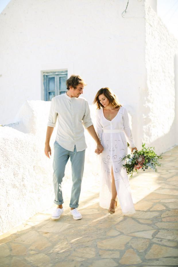 Maria & Nikos botanical-bohemian wedding in Greece | Tie the knot in Santorini- Weddings & Events in Greece