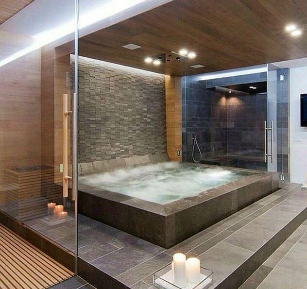 19 besten Bad Bilder auf Pinterest Fußböden, Modern und Architektur - luxus badezimmer wei mit sauna