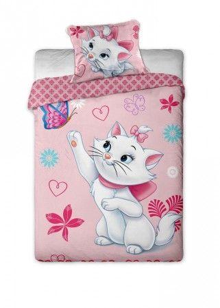 Marie cica rózsaszín ágyneműhuzat