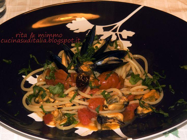 Vermicelli di Gragnano risottati in Acqua di Cozze - http://cucinasuditalia.blogspot.it/2008/01/spaghetti-con-le-cozze.html