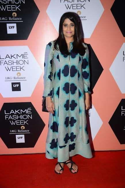 Actress Sai Tamhankar in Garo by Priyangsu and Sweta outfit at Lakme Fashion Week Summer Resort'16