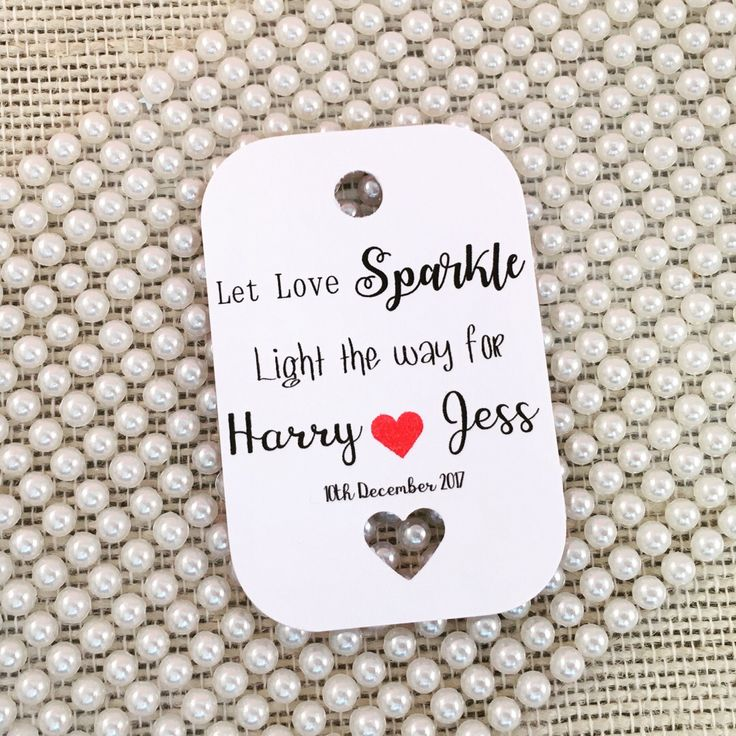 A personal favourite from my Etsy shop https://www.etsy.com/uk/listing/542519428/let-love-sparkle-sparkler-tags-wedding