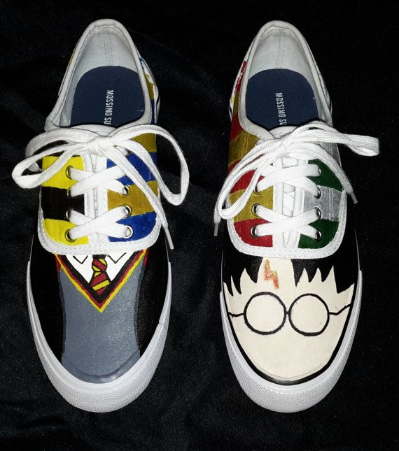 Harry Potter Painted Shoes on Etsy