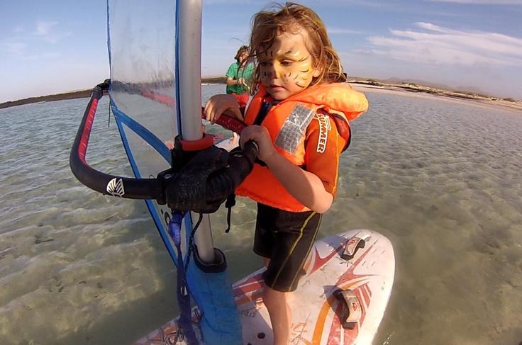 Catalina 3 years old windsurfer