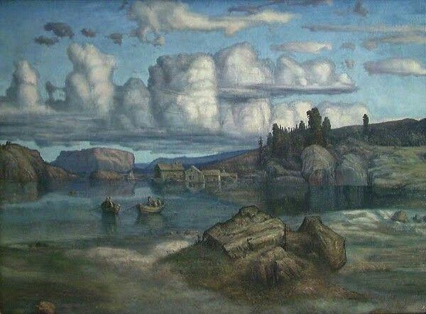 Lars Hertervig (1830-1902) - Fra Tysvær. 1865.