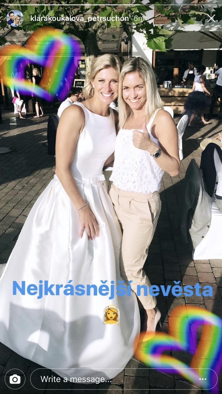 Two-time Grand Slam doubles champion and Olympic silver medalist Andrea Hlavackova also got married on Saturday.
