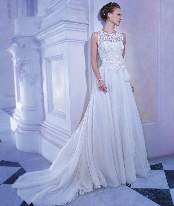 Demetrios GR255 Lace Bateau & soft tulle ballgown