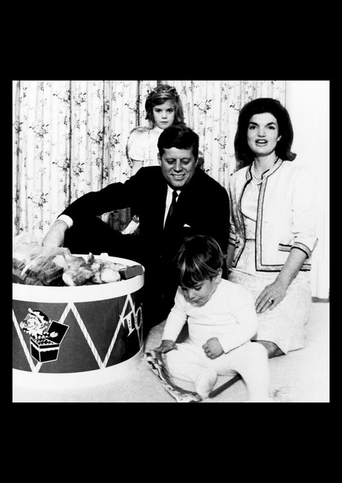 The Kennedy family gathered in the White House nursery to celebrate John Jr.'s birthday in November of 1962.