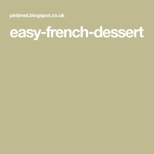 easy-french-dessert