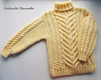 детский свитер для мальчика спицами схема