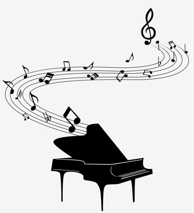 Cute Cute Black And White Musical Notes Staff Piano Ps Path Editable Decorative Pattern Cute Black And White Tabs Png Transparent Clipart Image And Psd File Black And White Cartoon