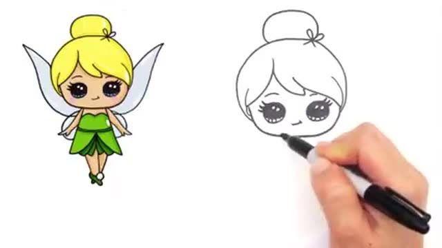 Baru 30 Gambar Tokoh Kartun Yang Mudah Dilukis Cara Mudah Menggambar Karakter Disney Tinker Bell Fairy Step By Step Downl Di 2020 Lukisan Disney Gambar Lucu Sketsa