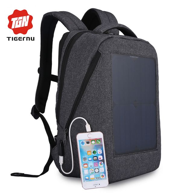 Fair price Tigernu New 10W Solar Powered & Anti-Theft Backpack with Solar Panel Bottle Bag Men and Women Laptop Bag just only $63.39 with free shipping worldwide  #backpacksformen Plese click on picture to see our special price for you