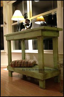 DIY Primitive Table   BlogHer