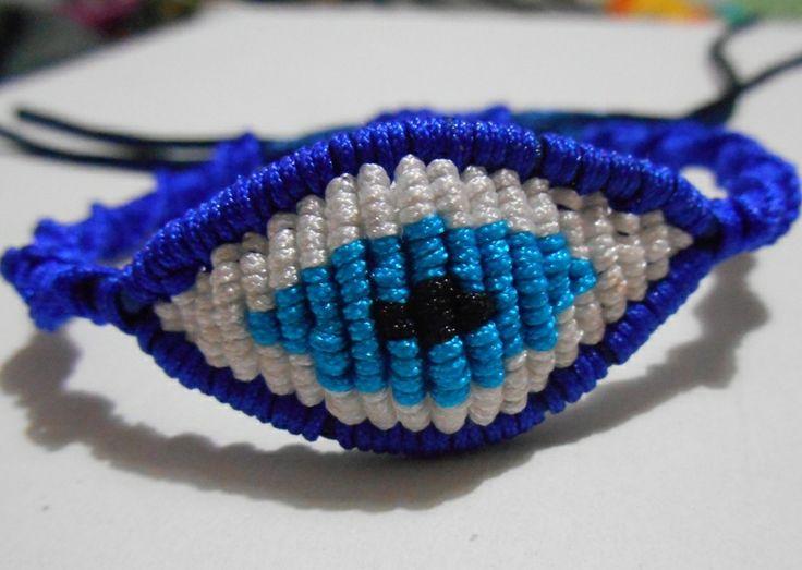 blue/white evil eye