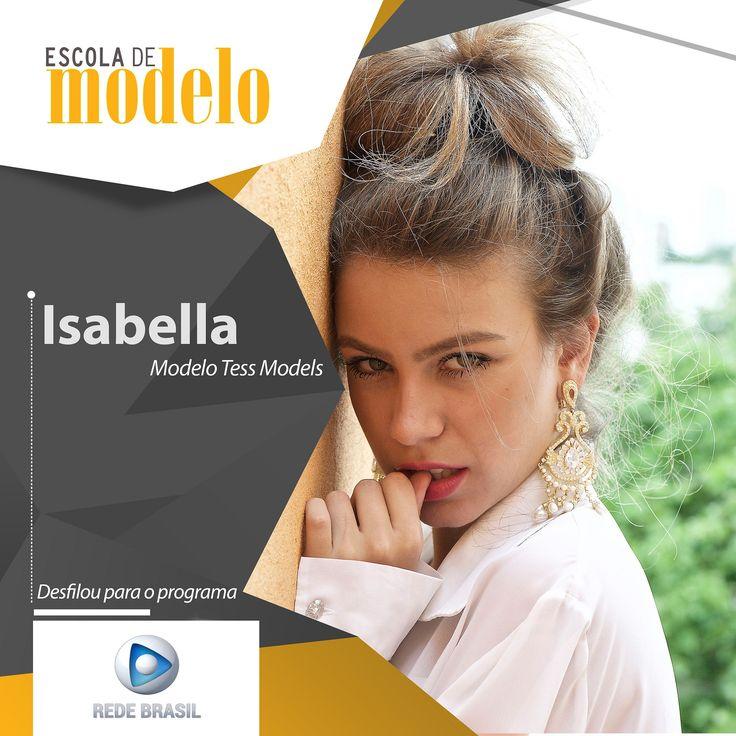 https://flic.kr/p/21GBK2j | Rede Brasil - Isabella | O programa A Tarde É Show da Rede Brasil fará um desfile de primavera e essas foram nossas modelos aprovadas. Parabéns meninas!! <3  #escolademodelo #modelo #passarela #teatro #desfile #maxfama #eventodemoda #catwalkbrasil #manequim #fashion #myagency #saopaulo #job #casting #marketing #vidademodelo #tendencia  #televisão #programa