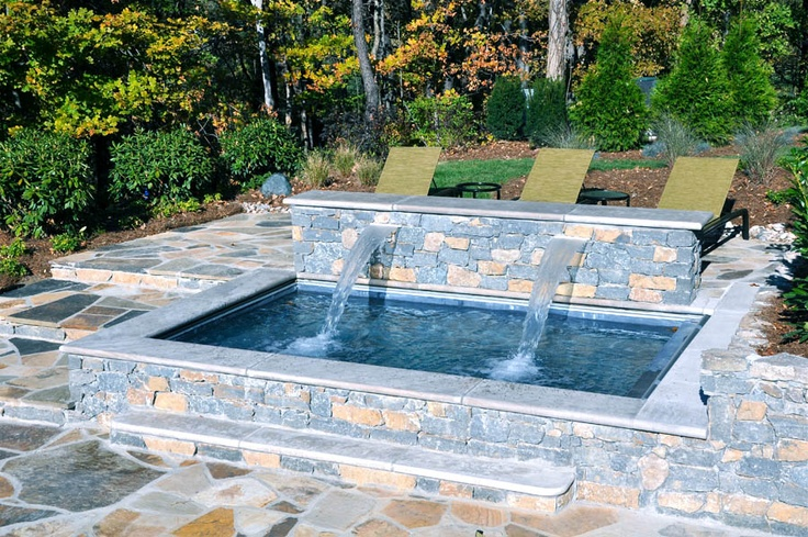 Custom Stone Hot Tub Tepe Landscaping Projects