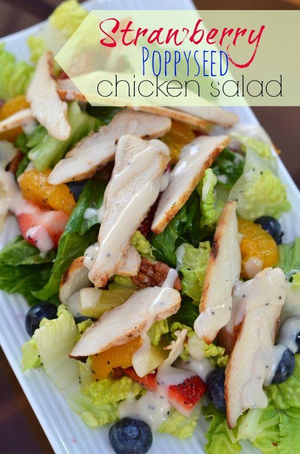 Strawberry PoppySeed Chicken Salad { Copycat Panera } - PLACE OF MY TASTE