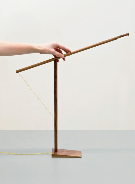 the most minimal lamp. use reminds me of dance.