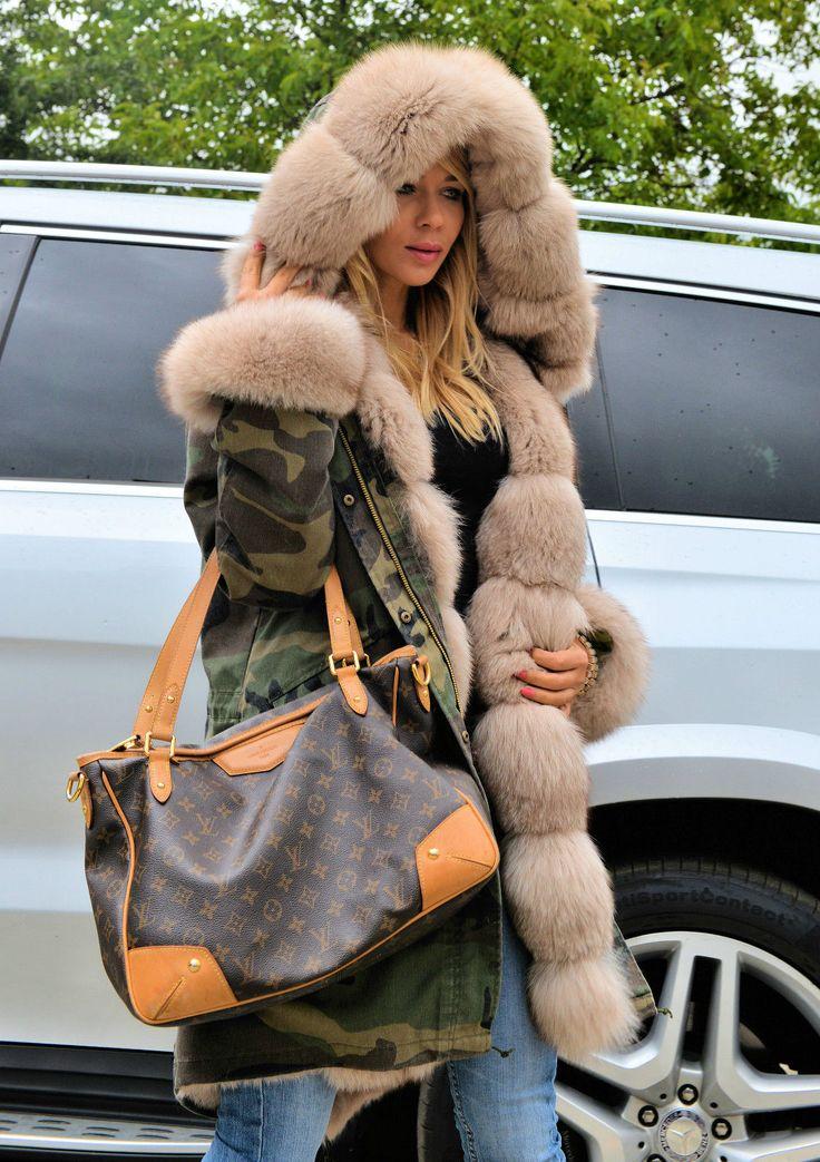 Fashion Women Winter Camouflag