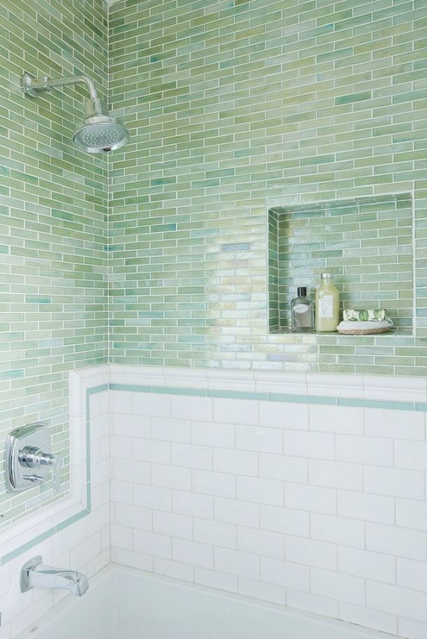 Beach Glass Bathroom Ideas : Best ideas about glass tile bathroom on shower niche master and