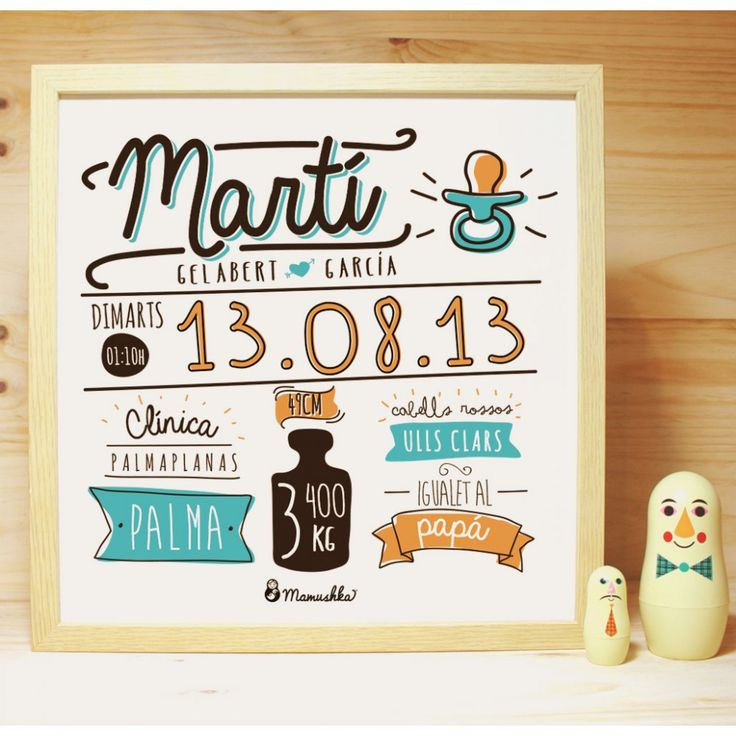 Natalicio 2 1000x1000 Jpg 1000 1000 Baby Posters Baby Gifts Baby Prints