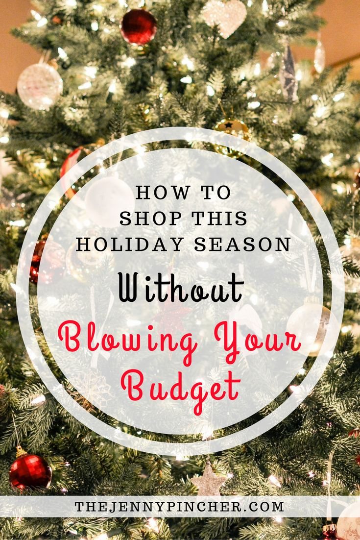 Learn how to shop this holiday season without blowing your budget. Includes places to find codes, deals & how to earn cash back! via @thejennypincher