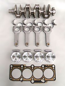 This new stroker kit is based on the FIA kit car specification.  With a 90mm stroke by 84 mm bore and using a 150 mm connecting rod, this configuration delivers the best balance of bore and stroke on an 88 mm bore center, while still maintaining a connecting rod ratio of 1.67:1.