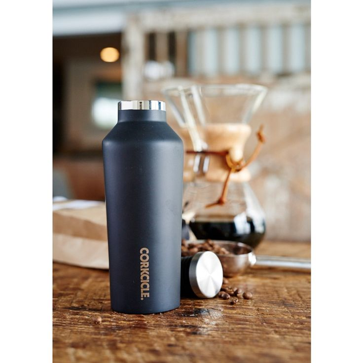 CORKCICLE CANTEEN TRIPLE INSULATED VACUUM FLASK in Matt Grey | Flask | Cool | NYE